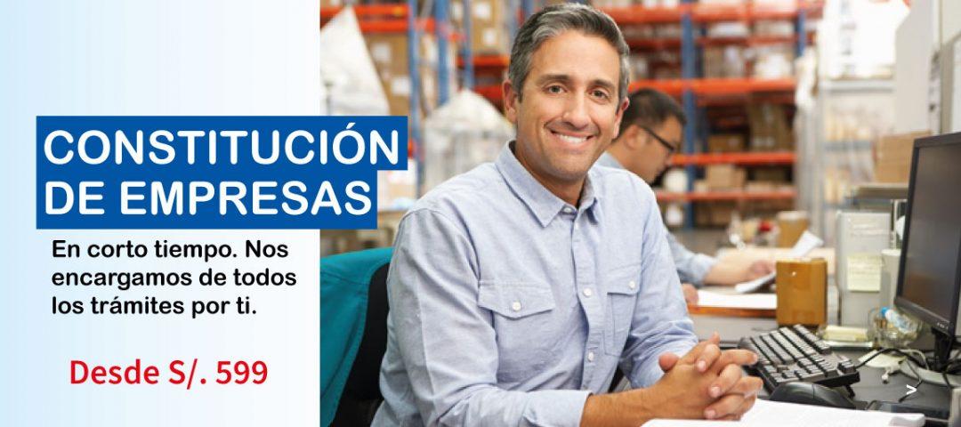 Constitución de empresas lima