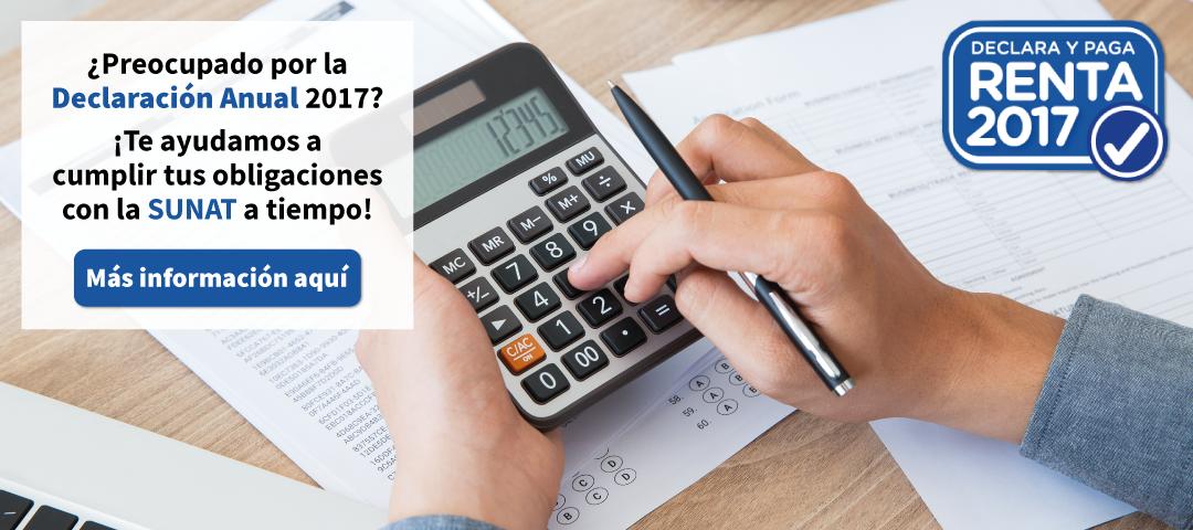 Te ayudamos en tu declaración anual de impuesto a la renta.