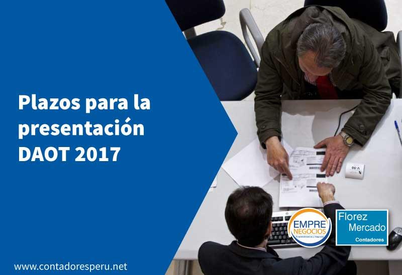 Desde el 01.03.2018 se inicia la Declaración anual de Operaciones con Terceros – DAOT 2017