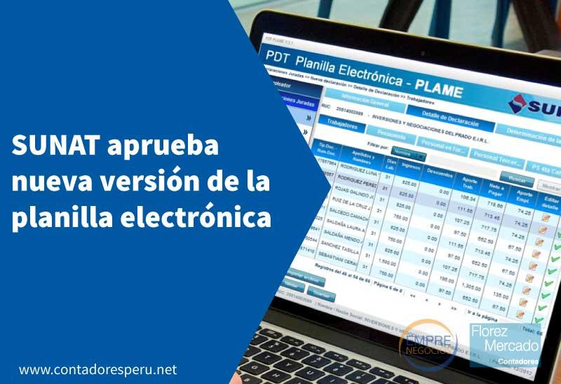 Sunat aprueba nueva versión de la planilla electrónica PLAME