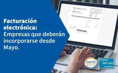MAYO: Empresas obligadas a emitir facturas electrónicas.