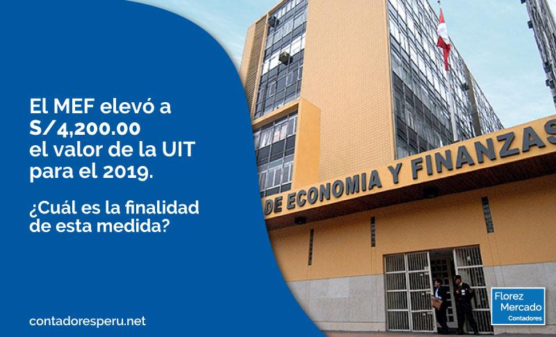 ¿Ya conoces el nuevo valor de la Unidad Impositiva Tributaria (UIT) para el 2019?
